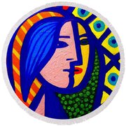 Homage To Pablo Picasso Round Beach Towel by John  Nolan