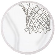 Hoops Round Beach Towel by Karol Livote