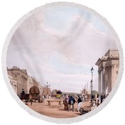 Hyde Park Corner, Looking Round Beach Towel by Thomas Shotter Boys