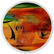 Imagination Round Beach Towel by Marvin Blaine