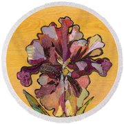 Iris I Series II Round Beach Towel by Shadia Derbyshire