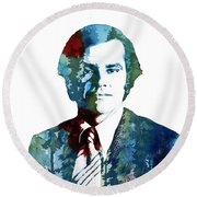 Jack Nicholson Round Beach Towel by Celestial Images