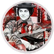 Jack White Round Beach Towel by Joshua Morton