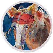 Jack Burro -  Donkey Round Beach Towel by Deb  Harclerode