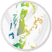 Jimmy Page Round Beach Towel by Dan Sproul