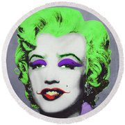 Joker Marilyn Round Beach Towel by Filippo B