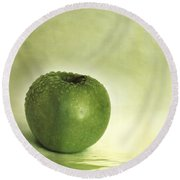 Just Green Round Beach Towel by Priska Wettstein