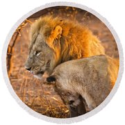 King And Queen Round Beach Towel by Adam Romanowicz