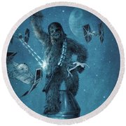 King Wookiee Round Beach Towel by Eric Fan