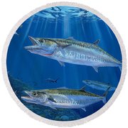 Kingfish Reef Round Beach Towel by Carey Chen
