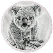 Koala Oxley Twinkles Round Beach Towel by Remrov