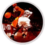 Kobe Spin Move Round Beach Towel by Brian Reaves