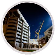 Kyle Field Construction Round Beach Towel by Linda Unger