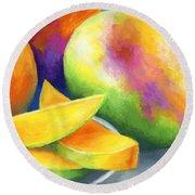Last Mango In Paris Round Beach Towel by Stephen Anderson