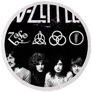 Led Zeppelin Round Beach Towel by FHT Designs
