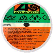 Led Zeppelin Iv Side 1 Round Beach Towel by Marcello Cicchini