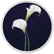 Lily Round Beach Towel by Lincoln Seligman