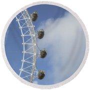 London Eye Round Beach Towel by Joana Kruse
