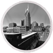 Looking Down On Nashville Round Beach Towel by Dan Sproul