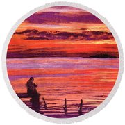 Lost In Wonder Round Beach Towel by Jane Small