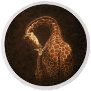 Love's Golden Touch Round Beach Towel by Crista Forest