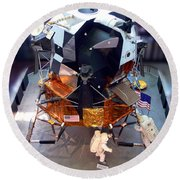 Lunar Module Round Beach Towel by Kevin Fortier