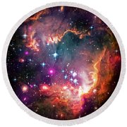 Magellanic Cloud 2 Round Beach Towel by The  Vault - Jennifer Rondinelli Reilly