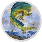 Mahi Hookup Off0020 Round Beach Towel by Carey Chen
