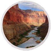 Marble Canyon Round Beach Towel by Inge Johnsson
