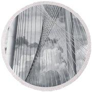 Margaret Hunt Hill Bridge Round Beach Towel by Joan Carroll