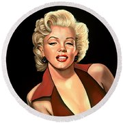 Marilyn Monroe 4 Round Beach Towel by Paul Meijering