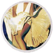 Marilyn Monroe Artwork 4 Round Beach Towel by Sheraz A