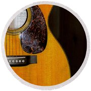 Martin Guitar  Round Beach Towel by Bill Cannon