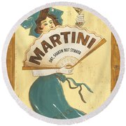 Martini Dry Round Beach Towel by Debbie DeWitt