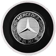 Mercedes-benz 6.3 Gullwing Emblem Round Beach Towel by Jill Reger