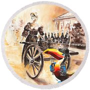 Molly Malone Round Beach Towel by Miki De Goodaboom