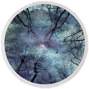 Moonlight Round Beach Towel by Stelios Kleanthous