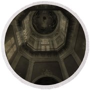 Morning Light On The Golden Dome Ceiling Round Beach Towel by Dan Sproul