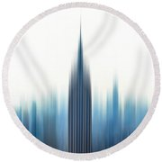 Moving An Empire Round Beach Towel by Az Jackson