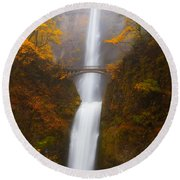 Multnomah Morning Round Beach Towel by Darren  White