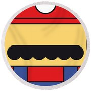 My Mariobros Fig 01 Minimal Poster Round Beach Towel by Chungkong Art