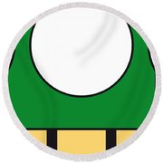My Mariobros Fig 05b Minimal Poster Round Beach Towel by Chungkong Art