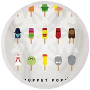 My Muppet Ice Pop - Univers Round Beach Towel by Chungkong Art