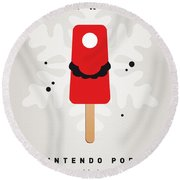 My Nintendo Ice Pop - Mario Round Beach Towel by Chungkong Art