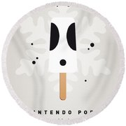 My Nintendo Ice Pop - Shy Guy Round Beach Towel by Chungkong Art
