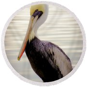 My Visitor Round Beach Towel by Karen Wiles