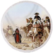 Napoleon And His General Staff Round Beach Towel by Jean Leon Gerome