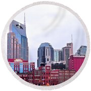 Nashville Close Up Round Beach Towel by Frozen in Time Fine Art Photography