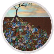 Neither Praise Nor Disgrace Round Beach Towel by James W Johnson