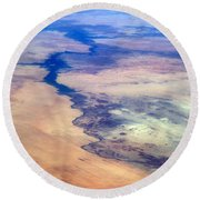 Round Beach Towel featuring the photograph Nile River From The Iss by Science Source